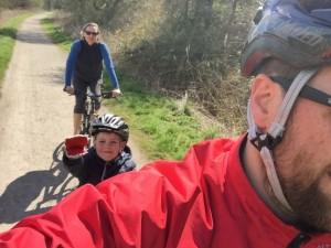Us three on the Tissington Trail