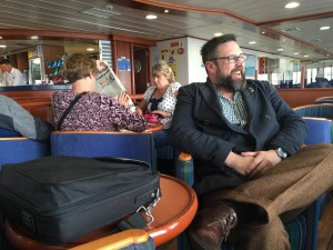 Rich and Shaun on the ferry