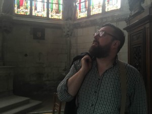 Shaun looking round the cathedral