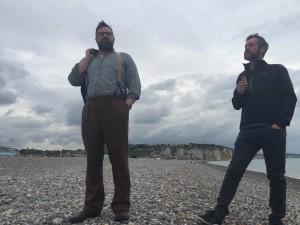 Shaun & Andy on Dieppe beach